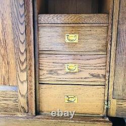 Arts and Crafts Liberty Style Oak Wardrobe