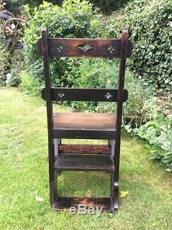 Arts and Crafts Metomorphic library Chair