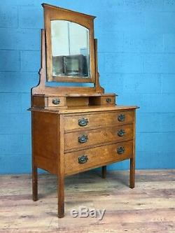 Arts and Crafts Oak Dressing Table (100615)