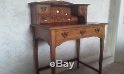 Arts and Crafts Oak Ladies Desk / Writing Table Antique