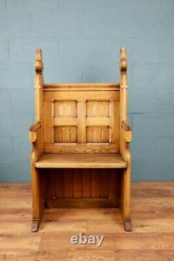 Arts and Crafts Oak Pew, Settle, Hall Seat, Bench (100790)