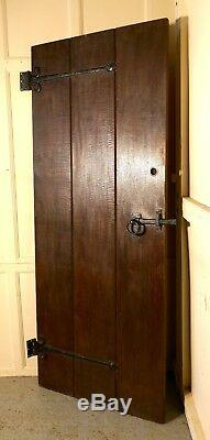 Arts and Crafts Oak Plank Door with Iron Fittings, free delivery