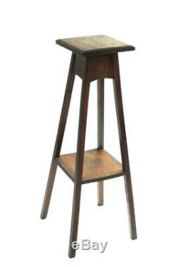 Arts and Crafts Oak Torchere Plant Stand 5976