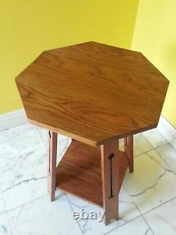 Arts and Crafts Side Table Liberty & Co Octagonal Table Top