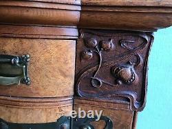 Arts and Crafts Sideboard in Burr Veneer Late Victorian