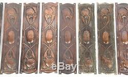 Arts and Crafts Solid Copper Set Ten Finger Plates Door Furniture Newlyn Keswick