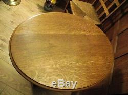 Arts and Crafts Table Circa 1900 Solid Oak Antique Oak Side Table