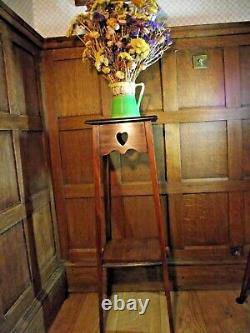 Arts and Crafts Table Circa1900 in Mahogany- Pierced Hearts to Aprons 91 cm TALL