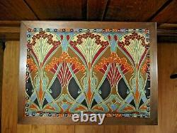 Arts and Crafts Table Magazine Rack Holder C 1900 Liberty of London Fabric