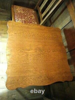 Arts and Crafts Table in Oak Circa 1900 LARGE 61 cm Top William Birch Style