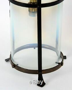 Arts and Crafts Vaseline Glass Ceiling Lantern