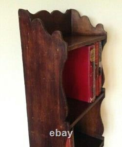 Arts and Crafts Wooden Pine Book Shelves Unusually Tall and Narrow 58 high