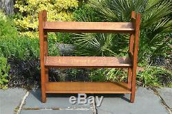 Arts and Crafts oak book rack stand American Mission style bookcase 1910
