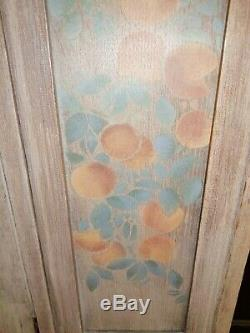 Arts and Crafts oak cupboard and matching chest of drawers
