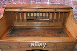 Arts and Crafts oak roll top desk Liberty & co. English circa. 1910