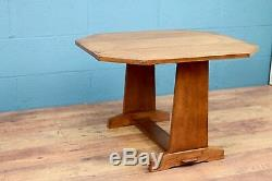 Arts and Crafts oak table by Arthur W Simpson (100191)