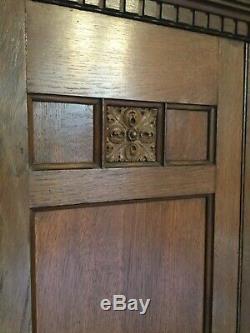 Arts and Crafts oak wardrobe