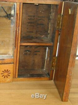 Arts and Crafts rustic 1910 antique bathroom cabinet, charming