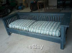Arts and Crafts sofa bench Gustav Stickley