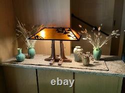 Arts and Crafts style MICA LAMP COMPANY Library Table Lamp #040 MINT condition
