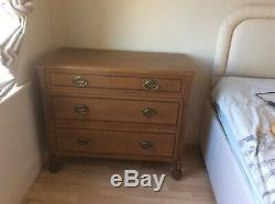 Arts and crafts wooden chest of drawers