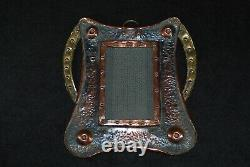 Beautiful Antique Arts And Crafts Photograph Frame Copper & Brass Circa 1900