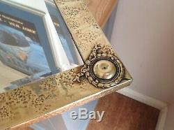 Beautiful Arts And Crafts Brass Framed Bevel Edged Mirror