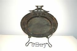 Beautiful Arts and Crafts beaten copper ladies dressing table mirror circa. 1910
