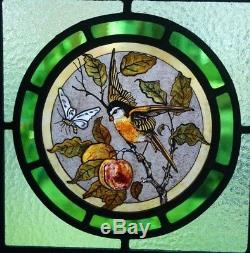 Beautiful Victorian'Arts and Crafts' design stained glass panel