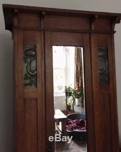 Beautiful-arts-and-crafts-wardrobe/hallrobe-manner-of-shapland & Petter C1900