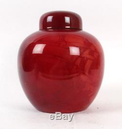 Bernard Moore Large Arts and Crafts Galleon Ginger Jar Flambe Pottery