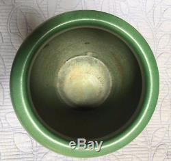 Big, Beautiful Weller Pottery Arts and Crafts Matte Green Planter Signed