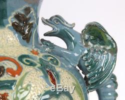 C H Brannam Devon Pottery 1897 Arts and Crafts Dragon Grotesque Vase Dewdney