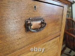 Chest of drawers rare Arts and Crafts Oak Harris Lebus c1900