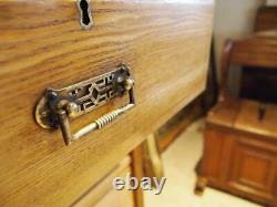 Chest of drawers rare slim Arts and Crafts Ash Victorian c1880