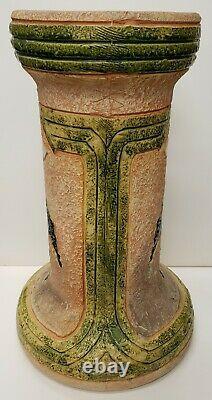 Circa 1915 Roseville Pottery Arts and Crafts Movement Mostique Pedestal