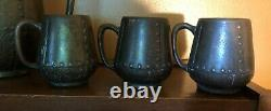 Clewell Copper Clad Pitcher and Six Mugs Set Arts and Crafts