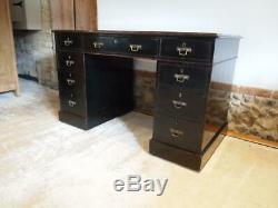 Desk Arts and Crafts Ebonised 3 part desk Mahogany Victorian c1880