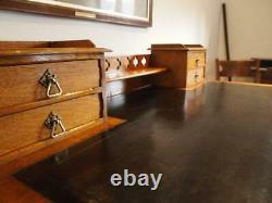 Desk fine Arts and Crafts Victorian Oak 3 parts c1890