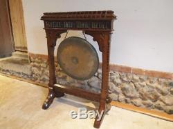 Dinner Gong rare Pugin influenced Arts and crafts Oak Gothic c1880