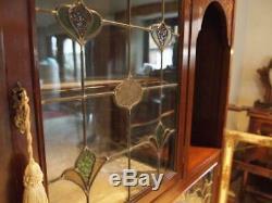 Display cabinet stunning Arts and Crafts Art Nouveau Mahogany c1890