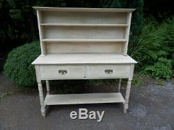 Dresser, bleached oak, very solid, Arts and Crafts, antique