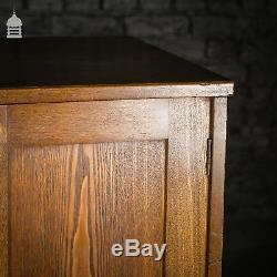 Early 20th C Oak Arts and Crafts Cupboard