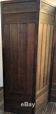 Early 20th Century Liberty & Co Arts And Crafts Three Panel Oak Folding Screen