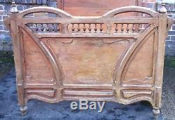 Excellent Victorian French Arts and Crafts Art Nouveau standard double bed