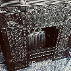 Exquisite Arts And Crafts Period Cast Iron Fireplace / Fire Surround Uk Del