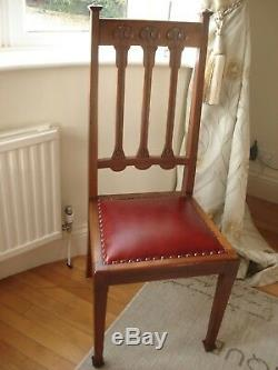 Exquisite Arts and Crafts Dining Chairs