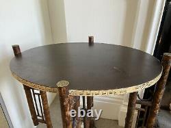 Exquisite tortoishell bamboo folding table base C1900 Arts and Crafts Aesthetic