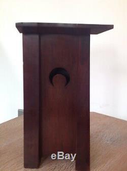 Fantastic Arts & Crafts Mahogany And Brass Clock
