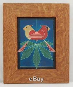 Framed Arts and Crafts Motawi 6x8 Ford Times Charley Harper Tile E984